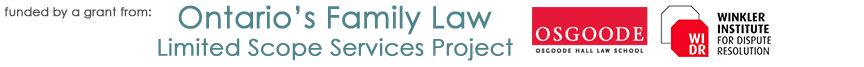 Ontario's Family Law Limited Scope Services Logo